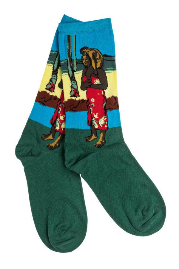 Ψηλές Γυναικείες Κάλτσες με Σχέδιο Μαμά με Παιδί