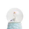 Γυάλινη Νερόμπαλα Μονόκερος με Γκλίτερ Χιόνι Μικρή
