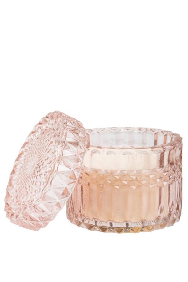 Αρωματικό Κερί σε Γυάλινο Βάζο Pink Blush 155gr