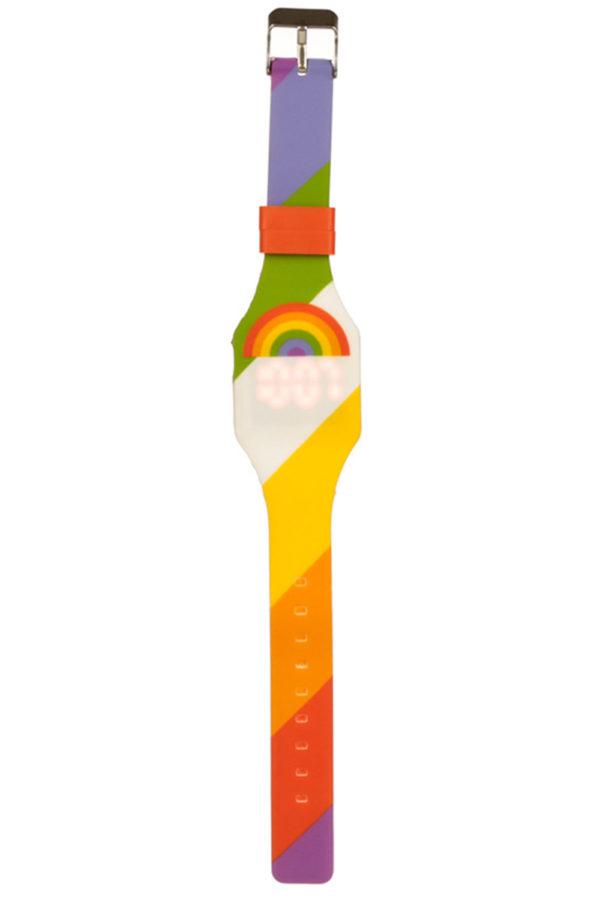 Ψηφιακό Ρολόι Χειρός Σιλικόνης Rainbow 03