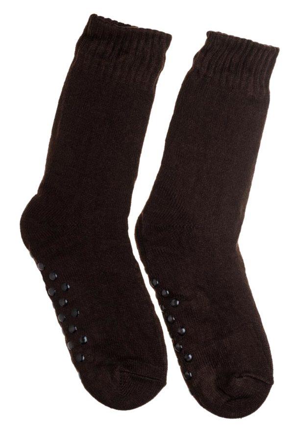 Καφέ Ανδρικές Χειμωνιάτικες Κάλτσες με Γούνα Fluffy