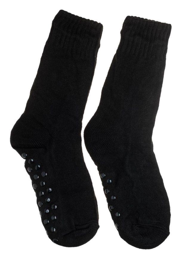 Μαύρες Ανδρικές Χειμωνιάτικες Κάλτσες με Γούνα Fluffy