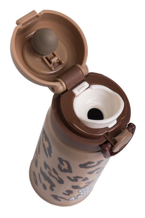 Ανοξείδωτο Μπουκάλι Θερμός Υγρών Λεοπάρ Καφέ 350ml