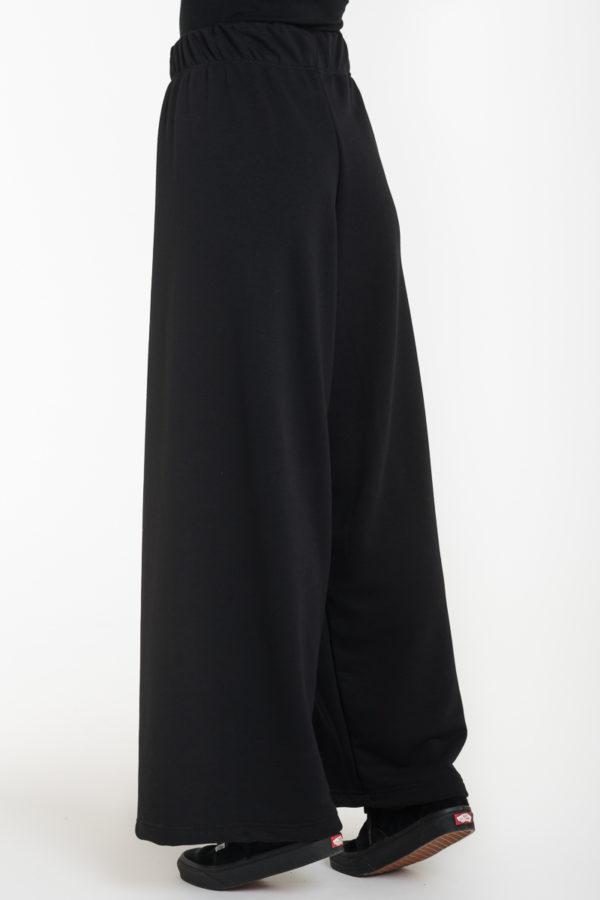 Μαύρη Φούτερ Παντελόνα με Ελαστική Μέση