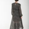 Μαύρο Πουά Φόρεμα Με Μανίκι Φουφούλα